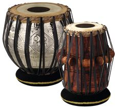Meinl Percussion TABLA Set with 8 Bayan & 5 Dayan: The MEINL Tabla is made in the time-honored Indian tradition. Proper tuning is achieved by adjusting wooden rollers that are fitted under the nylon verticals. All Music Instruments, Indian Musical Instruments, Drums For Sale, Skin Head, All About Music, Folk Music, Chrome Plating, Musicals, Traditional