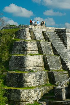 Altun Ha in Belize existed by at least 200 BC, perhaps even several centuries earlier, and flourished until the mysterious collapse of Classic Maya civilization around AD 900. Most of the temples date from around AD 550 to 650, though, like many Maya temples, most of them are composed of several layers, having been built over periodically in a series of renewals.