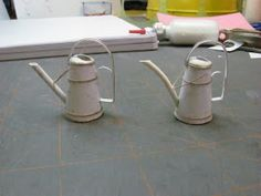 Dollhouse Miniature Furniture - Tutorials | 1 inch minis: Watering Can Tutorial Part 4