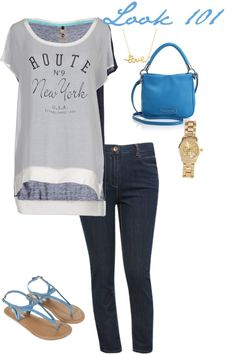 MAS TENDENCIAS BCN: Look 101 - propuesta casual jeans and blue