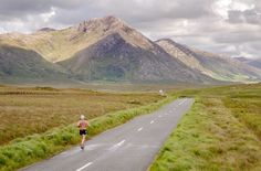 Don Hannon running in Connemara