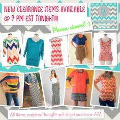 Cute & affordable on trend items on CLEARANCE SALE at the DAKOTA JACKSON BOUTIQUE Facebook page.  LIKE us on Facebook & follow us here.  New collections every Tuesday night. :)