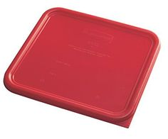 Rubbermaid Commercial Products 1980307 Plastic Food Storage Container Lid Square 12 quart Red *** AMAZON Great Sale
