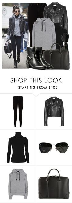 """""""KENDALL JENNER"""" by justadream133 ❤ liked on Polyvore featuring 7 For All Mankind, Yves Saint Laurent, Acne Studios, Ray-Ban, Y-3, Givenchy, jenner, kendall and kendalljenner"""