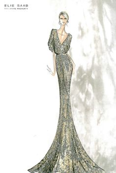 Fashion  Couture: Elie Saab Sketches :)