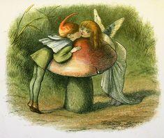 Fairies kissing