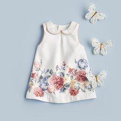 Pretty florals for little ladies 🌸💐🌷🌺 Girls Border Print Dress 🔎s2651897