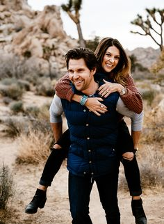 Playful Engagement Photos in Joshua Tree - Inspired By This