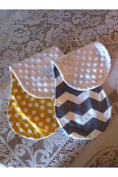 Custom handmade burp cloths