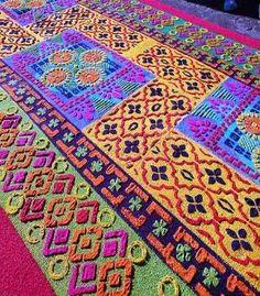 Easter carpet, Antigua Guatemala