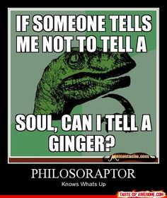 """What's with this """"redheads have no soul"""" business going around?"""