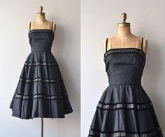 Libretto dress vintage 1950s dress black 50s party by DearGolden
