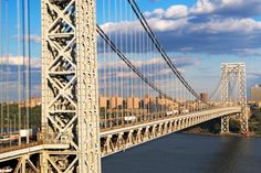 Such a great feat of engineering-----The George Washington bridge which connects Fort Lee to Manhattan.