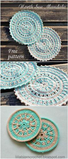 Crochet North Sea Mandala - 60+ Free Crochet Mandala Patterns - DIY & Crafts