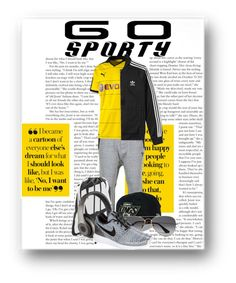 """Go Sporty W/ Borussia Dortmund"" by aniyah-xxxx ❤ liked on Polyvore featuring Y-3, Puma, adidas, NIKE, New Era, Beats by Dr. Dre, Ray-Ban, men's fashion, menswear and sporty"