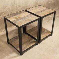 """85 Me gusta, 3 comentarios - NAKED METAL STUDIO LLC (@nakedmetalstudio) en Instagram: """"-Minimalist Reclaimed Wood End Tables- . . . . . . . . . . #minimalism #minimalist #reclaimed…"""""""