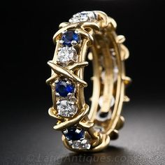 Tiffany and Co. - Schlumberger Sapphire and Diamond Wedding Band