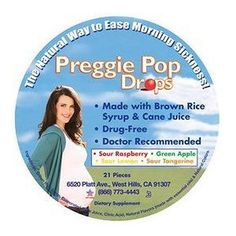 PreggiePops-a pregnancy life-saver. Natural way to lessen the nausea.