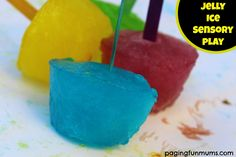 Jelly Ice Sensory Play - an inexpensive, easy and FUN sensory activity for kids!