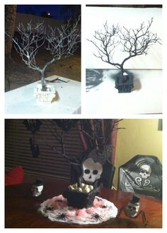 DIY Halloween center piece