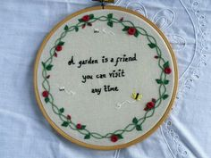 Blossom and Bloom Embroidery. Hand Embroidery Embroidered Hoopart Flowers Quote https://www.etsy.com/uk/listing/458680348/hand-embroidery-hoop-flowers-quote-a?ref=shop_home_active_14#