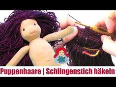 DIY | Puppenhaare im Schlingenstich häkeln | Sami Doll Tutorials - YouTube