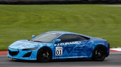 The Acura NSX isn't exactly hiding out at Mid-Ohio. Honda's supercar has been in the open the last few days.