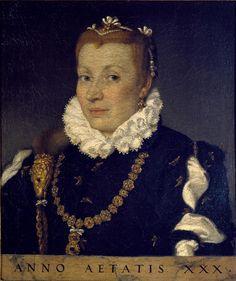 Giovan Battista Moroni - Ritratto di gentildonna trentenne - 1570-1575 - Accademia Carrara di Bergamo - percorso Moroni