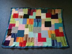 My world of crochet: Stash Buster # 8: Patchwork BabyBlanket