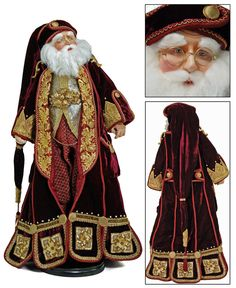 Katherine's Collection Jules Garland Santa Doll - Christmas Decorations Online