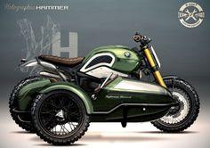 BMW R nineT Scrambler Sidecar design by Holographic Hammer