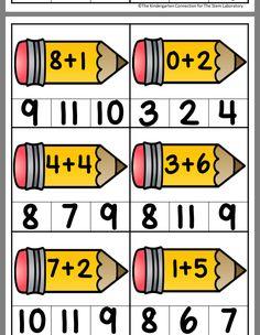 Math Activities For Kids, Preschool Math, Math For Kids, Kindergarten Math, Teaching Kids, Kids Learning, Lkg Worksheets, Mental Maths Worksheets, English Grammar For Kids