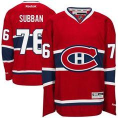 Reebok P.K. Subban Red Montreal Canadiens Premier Player Jersey 1686457b1