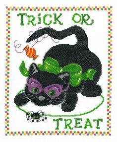 Tricky Kitty - Cross Stitch Pattern