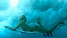 #AlanaBlanchard duck dives into the blue.