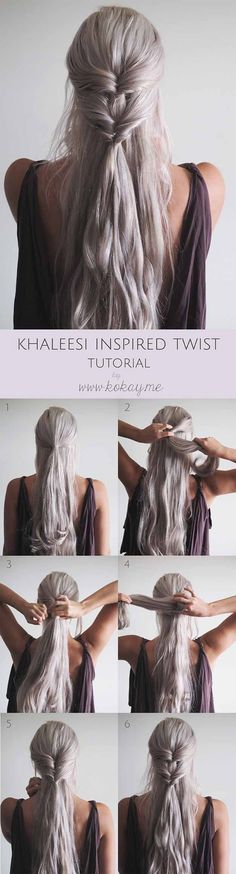 Best Beauty Tips For Teens - Khaleesi Inspired Twisted Hairstyle - The Best Products And DIY Make Up Ideas For Losing Weight And Using Eye Makeup For Looking Cute When You Go Back To School. Makeup Ideas Beauty Tips Every Teen Should Know. Beauty Tips For