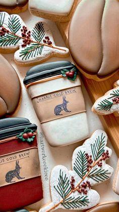 Fancy Cookies, Iced Cookies, Cute Cookies, Cupcake Cookies, Cupcakes, Christmas Biscuits, Christmas Sugar Cookies, Valentines Day Cookies, Birthday Cookies