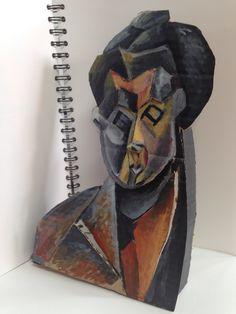 Picasso card sculpture