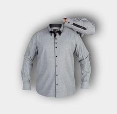 """Duke Hemd Brian grau meliert  Diese XXL Duke Hemd """"Brian"""" besticht durch die gut aufeinander abgestimmten Farben. Das modische Langarm Hemd ist ein echter Hingucker. Qualität und gute Passform werden den Herren gefallen.  http://www.maenner-uebergroessen.de/xxl-duke-hemd-brian"""