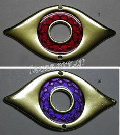 μάτι κόκκινο και μοβ