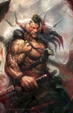 Dark Fantasy Art Barbarian