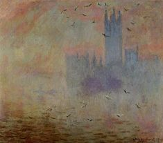 Houses of Parliament Seagulls 1899-1900 | Claude Monet | Oil Painting #impressionism