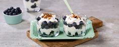 Oppskrift på Tilslørte blåbærpiker med cottage cheese