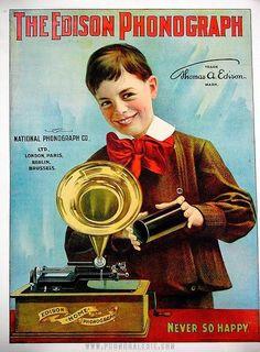 1800s Advertisements | Vintage Advertisement - The Edison Phonograph - late 1800's