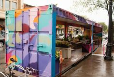 Open space is cities is often limited, making parks and places to relax and socialize precious. In light of this, Montreal has turned shipping containers into parklets equipped with planters, seating and local art. Recycling materials makes #LQC easy! #Placemaking #StreetsAsPlaces
