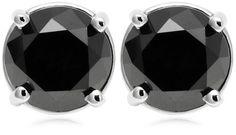 14k White Gold Black Diamond Stud Earrings (2 cttw) Amazon Curated Collection, http://www.amazon.com/dp/B000N5ZVS8/ref=cm_sw_r_pi_dp_RLkxqb018PPWZ