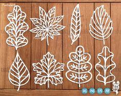 Excited to share the latest addition to my #etsy shop: Leaf Svg SET 3, Leaves Svg, 8 Leaf Designs | Leaves Cutting Svg | Leaf Die Cut | Trees svg | Nature svg | Plants Svg | Cricut | Silhouette