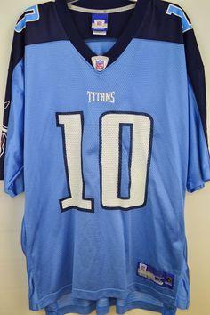 b2ab56c261e1 NFL Reebok Onfield Vince Young Tennessee Titans Nylon Jersey Size XL  Reebok   TennesseeTitans