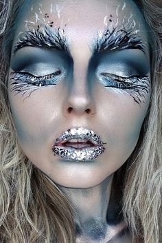 18 Pretty Halloween Make-up Ideas Crazy Makeup, Pretty Makeup, Awesome Makeup, Cool Makeup, Makeup Fx, Face Makeup Art, Makeup Case, Face Art, Hair Makeup
