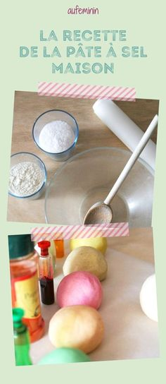 On weekends or during the holidays, here is an idea of ​​manual activity to do with the Loulous: homemade salt dough! Petite Section, Salt Dough, Dough Recipe, Fruit Smoothies, Fresh Vegetables, Vegan Recipes Easy, Eating Plans, Food Items, Food Hacks